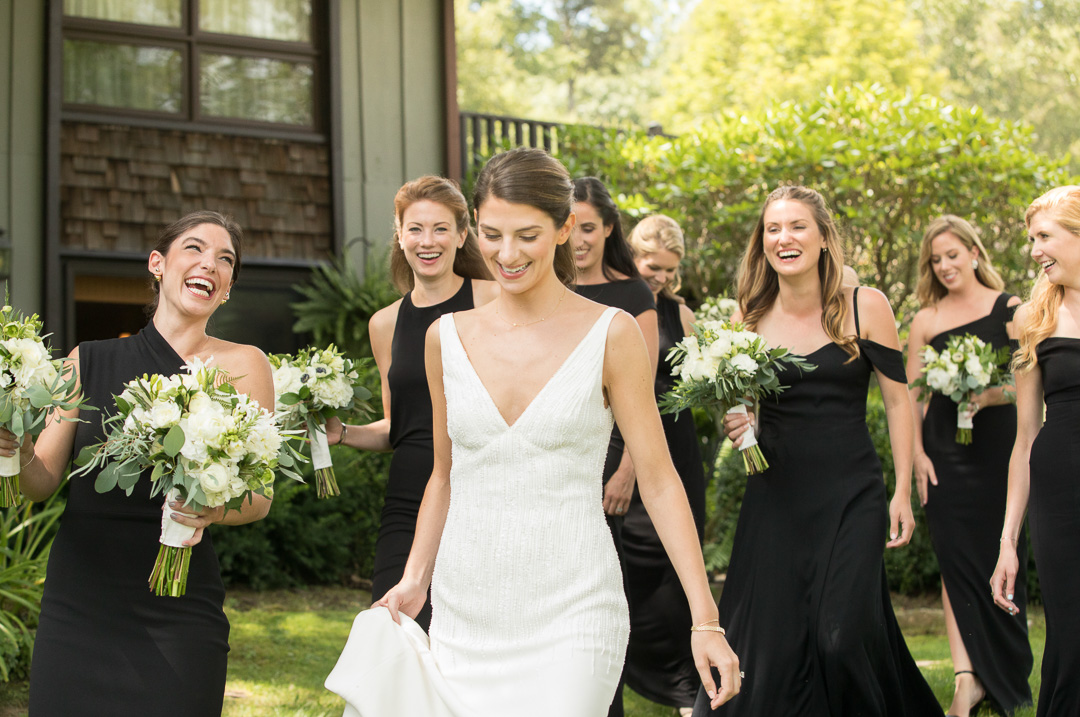 Bride and Bridesmaids Linville Wedding