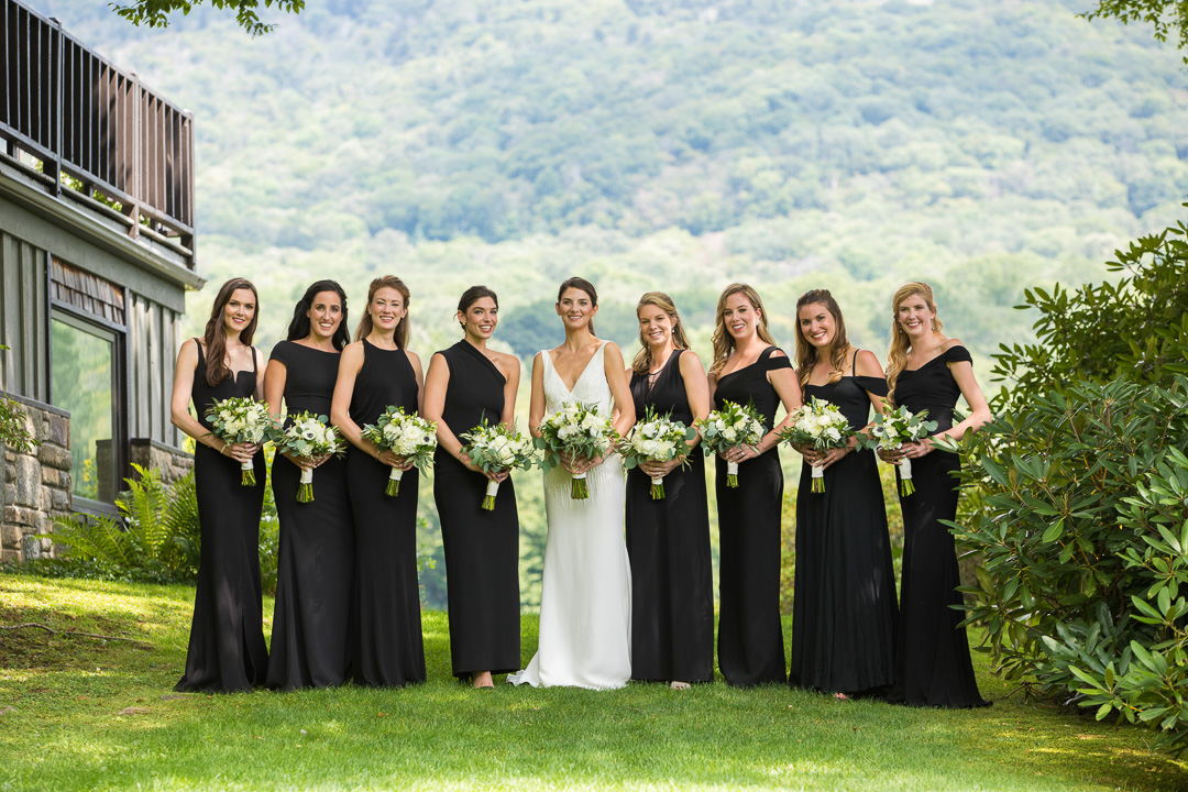 Bridal Party Linville Wedding