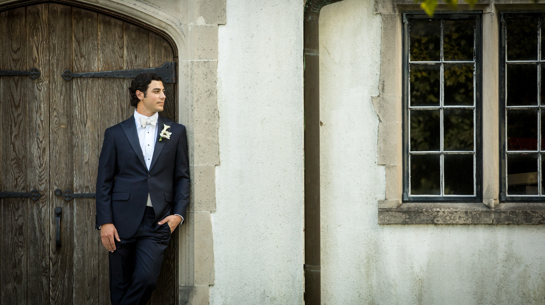 Reynolda Presbyterian Wedding Portrait