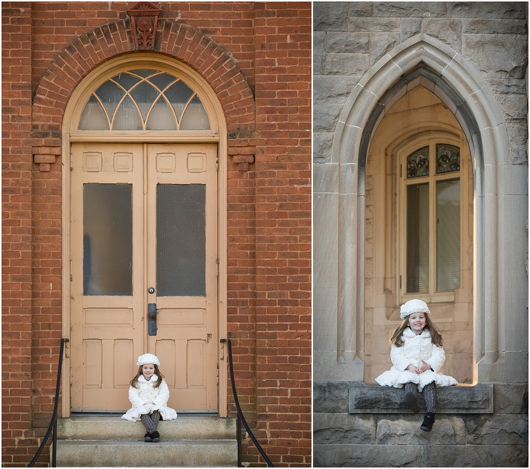 Elegant Winter Portrait in Winston-Salem
