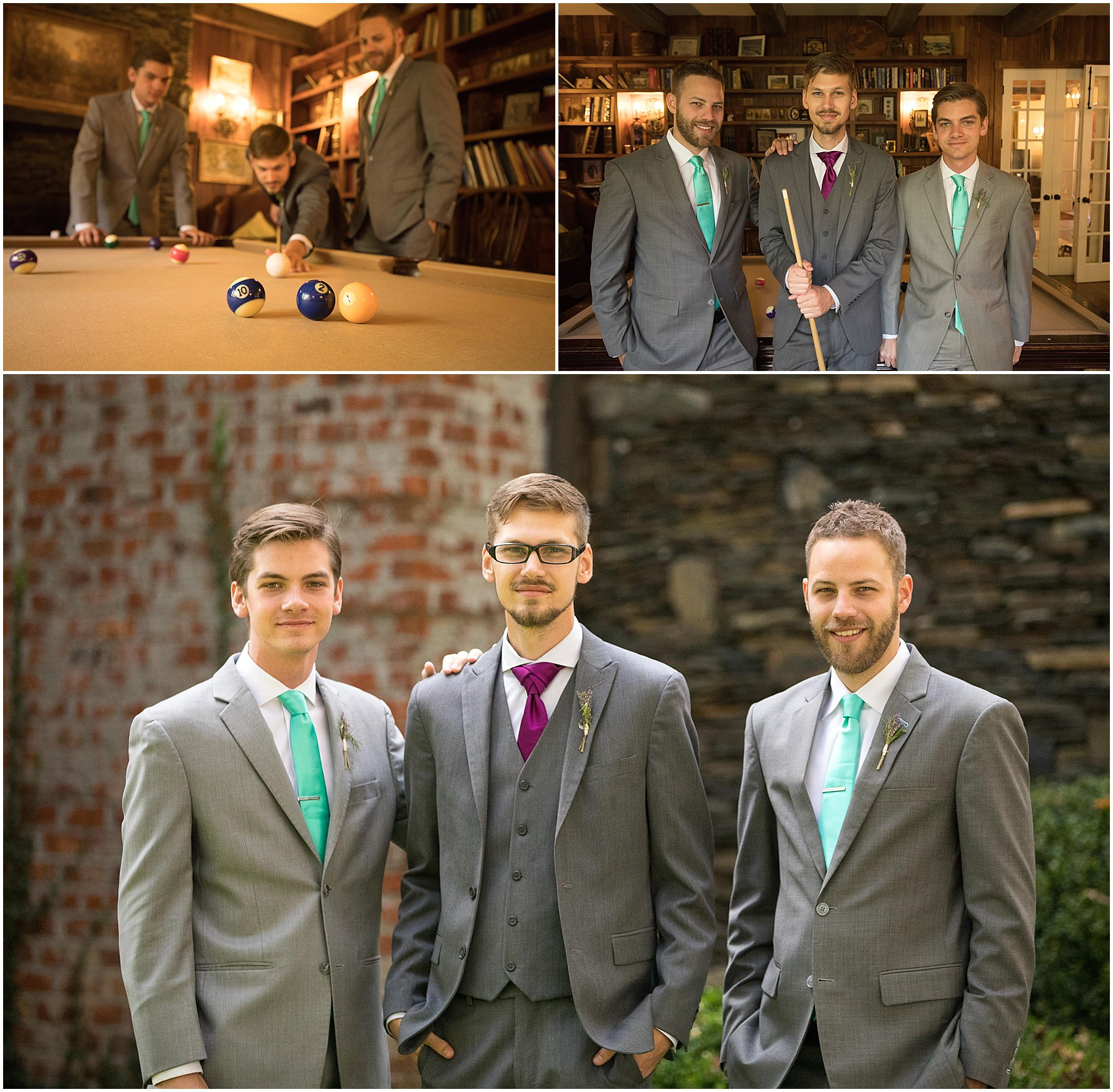 Twickenham House Wedding Groom with Brothers